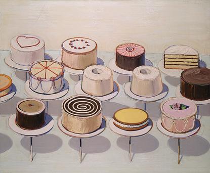 Wayne Thiebaud Cakes