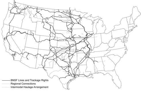 Burlington Northern Santa Fe, Route Map