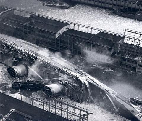 Normandie sinking, New York