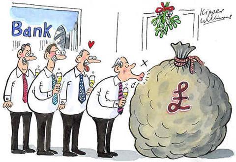 Bankers Under The Mistletoe