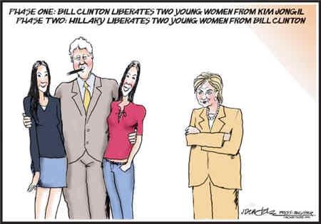 Bill Clinton Frees Two U.S. Journalists
