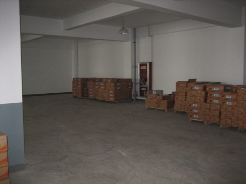 Picture #3:  Less than a quarter of the warehouse space is occupied with inventories.  The dates on the inventories went back to over 6 months old.
