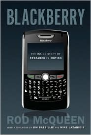 BlackBerry by Rod McQueen: Book Cover