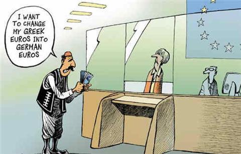 Greek Euros Into German Euros