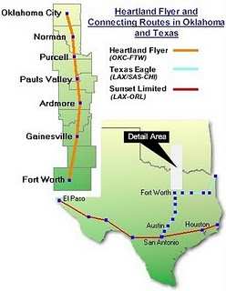 Amtrak Heartland Flyer Route