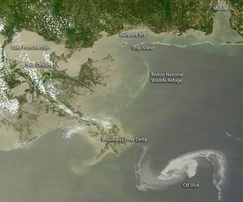 bp gulf oil slick