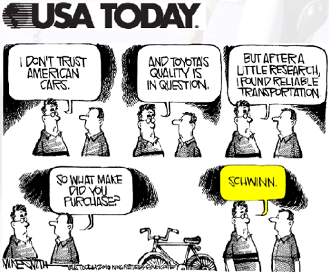 USA Today comic - Schwinn
