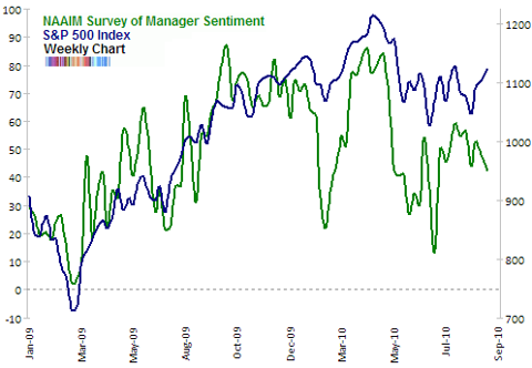 NAAIM survey of manager sentiment Sep 2010 update