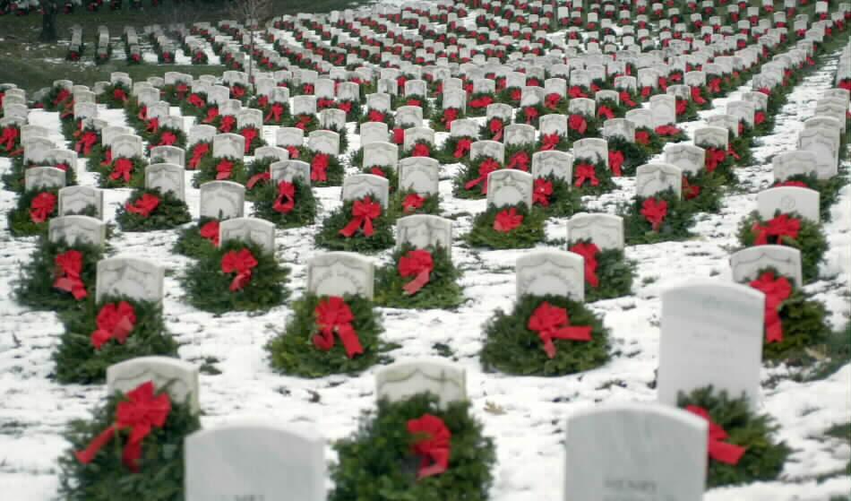 Wreaths at Arlington Cemetery