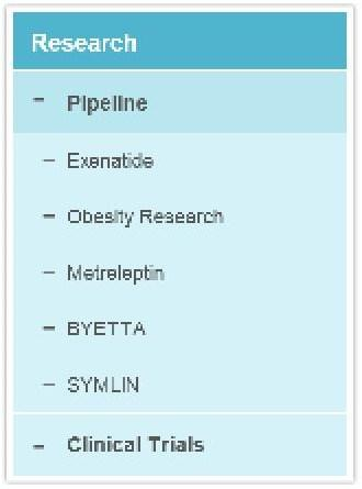 AMLN Pipeline