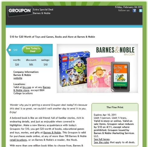 barnes & noble groupon
