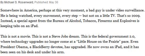 Apple Washington Post Quote