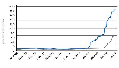 The rise in rare earth element prices