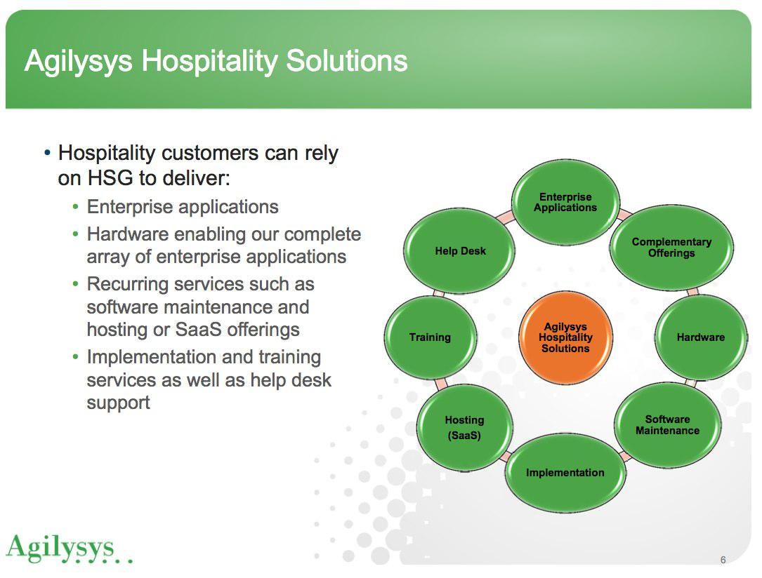 agys hospitality division