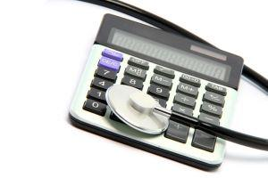 Photo of stethoscope with calculator