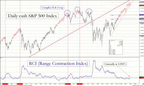 Chart 1 of the RCI for cash S&P 500