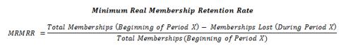 Minimum Real Membership Retention Rate