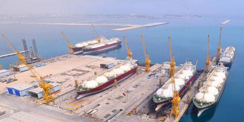 Keppel Nakilat shipyard in Qatar