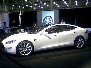 English: Photo of the Tesla Model S, from the ...