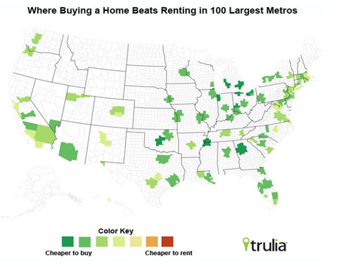 Trulia.com Rent vs Buy Index 2012