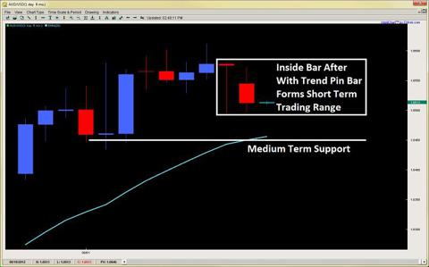 inside bar pin bar price action trading 2ndskiesforex.com aug 13th
