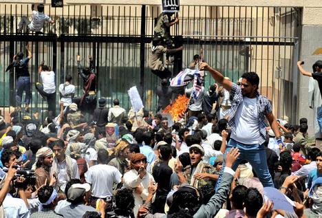 US Embassy Yemen Protest