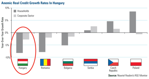 Anemic Real Credit Growth Rates in Hungary