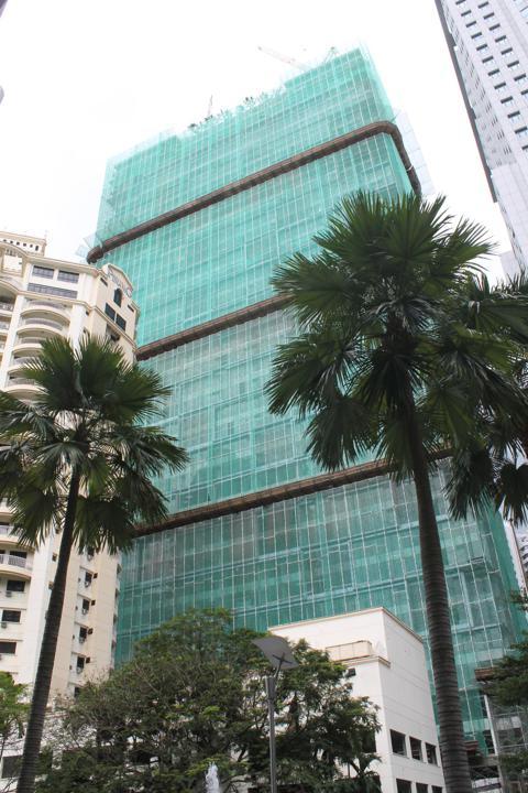 New construction near the Kuala Lumpur Convention Center