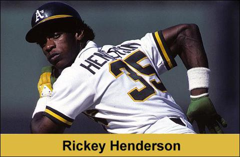 rickey henderson stolen base leader MLB oakland athletics a