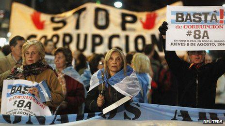 An anti-government rally in Buenos Aires