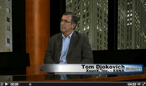 XSunX, Inc. CEO Tom Djokovich interviewed on MoneyTV