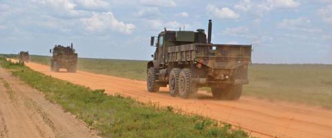 A TerraMax Convoy