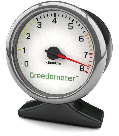 Greedometer gauge at 7700rpm