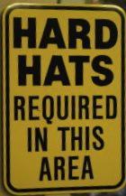 Hard hat sign