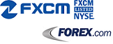 FXCM and Forex.com logos