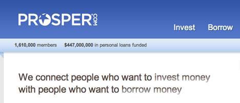 Prosper Alternative Investing Borrowing