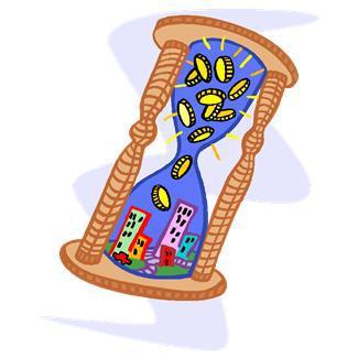 buildings,business,cash,cities,coins,economies,hourglasses,metaphors,taxes,timing,rich,poor,flow,urban