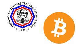 CFTC and Bitcoin logos RS