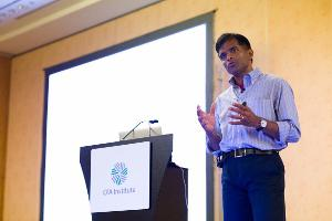 Aswath Damodaran lectures on valuation techniques at the 66th CFA Institute Annual Conference in Singapore.