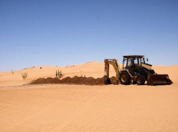 Trenching at Kaoua in Mauritania