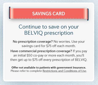 Belviq Savings Card