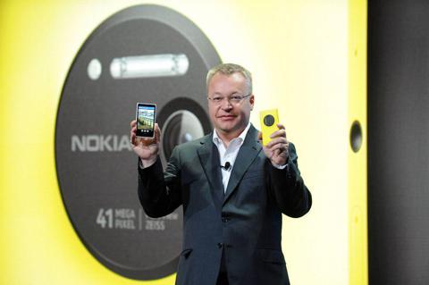 Elop at the Lumia 1020 launch (source: Nokia Press Photos)