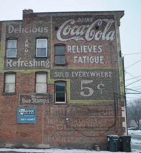 Coca-Cola sign as seen in Schenectady, New York