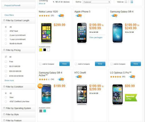 Top 3 Smartphones on AT&T