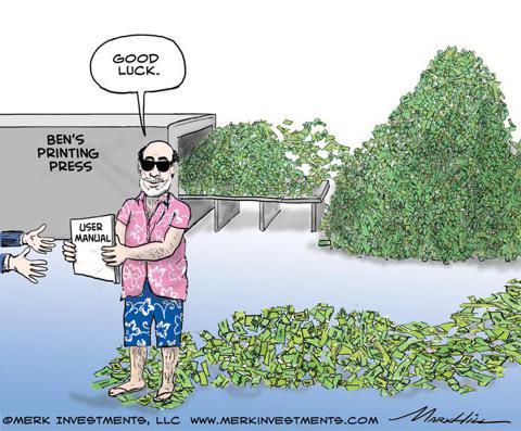 Bernanke Yellen printing money
