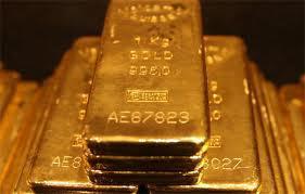 Gold bullion.