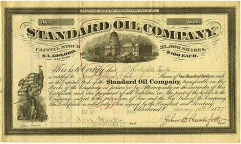 standard oil stock certificate