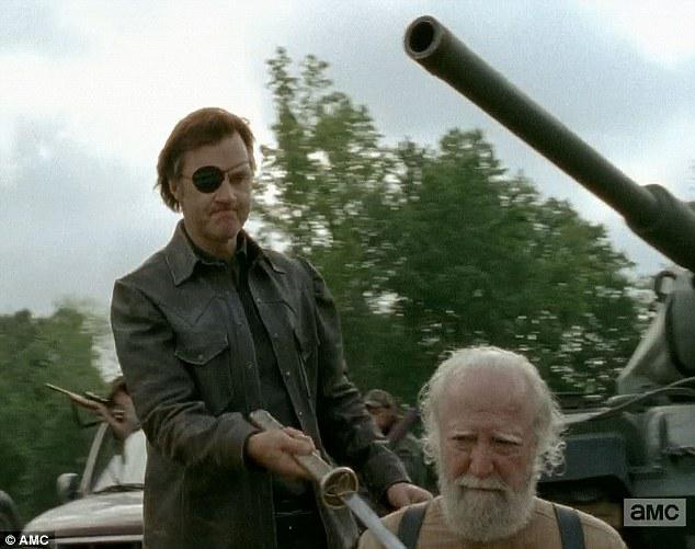 Brutal: Hershel awaits his fate at the hands of The Governor on last night