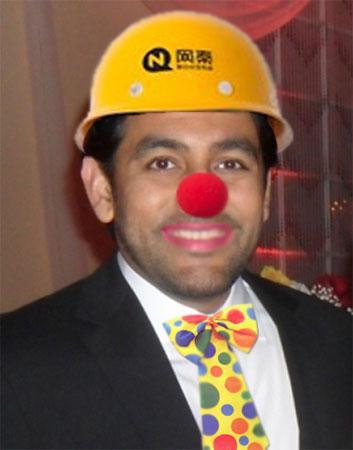 NQ Mobile Omar Khan Clowning Around