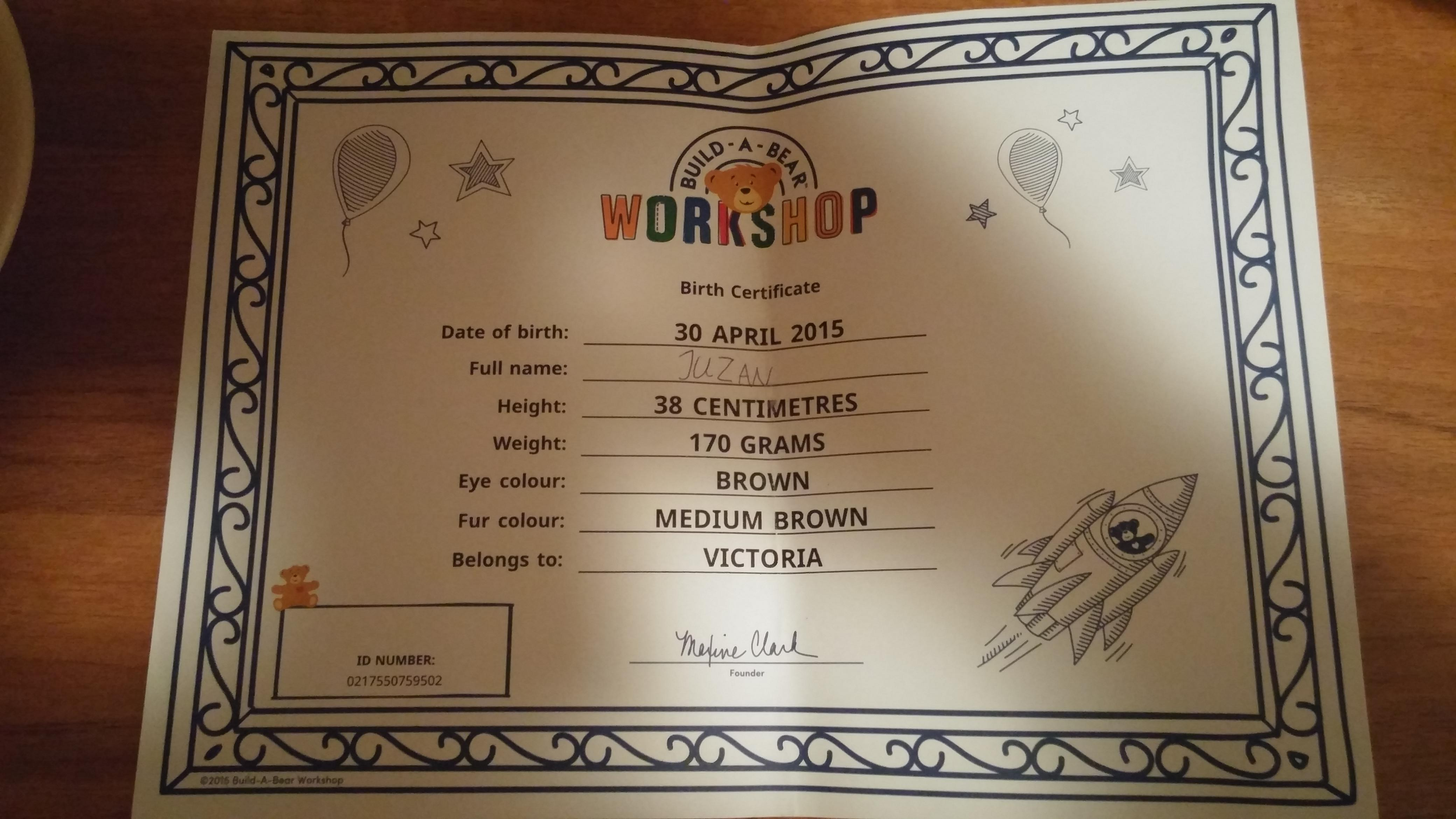 Build a bear this customer experience stock is going to for Build a bear certificate template